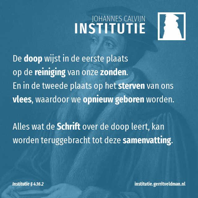4162 Samenvatting Van De Betekenis Van De Doop Institutie